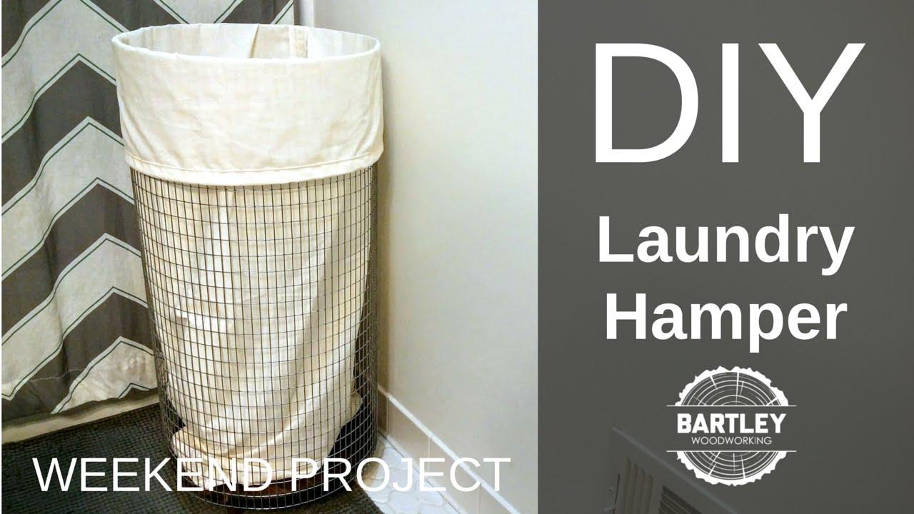 DIY Laundry Hamper - YouTube