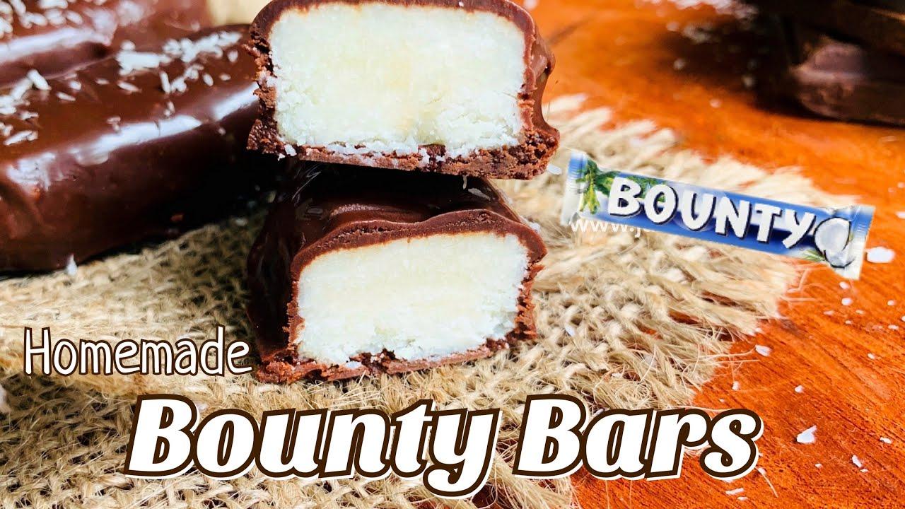 Homemade Bounty Bars | Bounty Bar Recipe | 4 Simple Ingredients | பெளண்டி பார்ஸ் செய்முறை