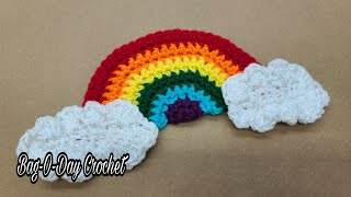 Easy crochet rainbow applique …