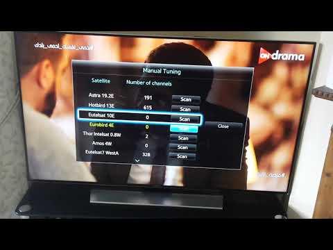 Samsung smart tv motorised dish and satellite setup