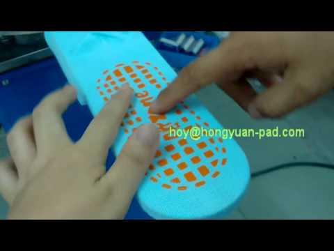 Anti slip sock and glove dotting silicon printing machine