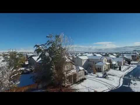 2015 First big snow storm in Sparks, Nevada. Drone Footage