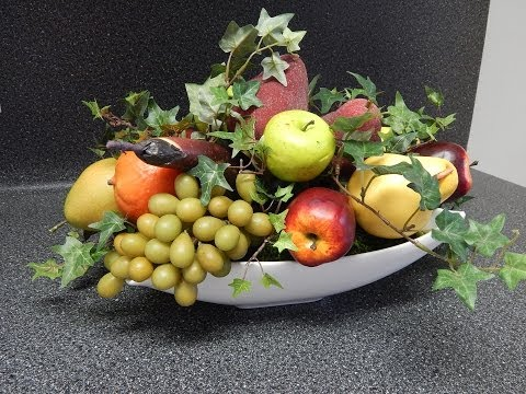 Arreglo de frutas artificiales youtube - Centros de mesa artificiales ...
