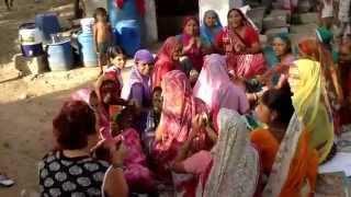 Slum worship music in New Delhi, India