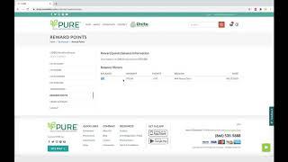 Where To Check Reward Points - PURE Web 2.0 Tutorials