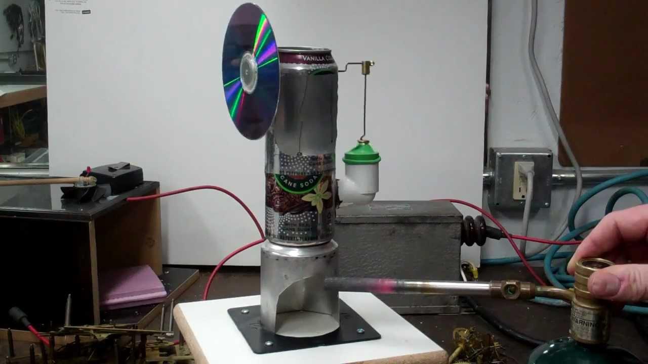 Soda Can Stirling engine Coke Can Stirling Engine Diy Stirling engine