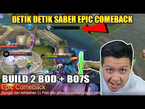 EPIC COMEBACK SABER 1 COMBO MATI MARKSMAN - Mobile Legend Bang Bang thumbnail