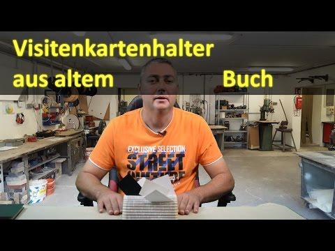 Visitenkartenhalter Aus Altem Buch Upcycling Youtube