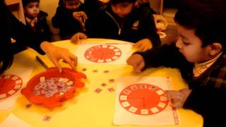 Number work activity in Pre-Nursery at LMA 6-E