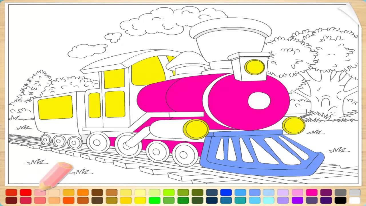 Раскраски для детей онлайн машинки для мальчиков ПАРОВОЗ ...