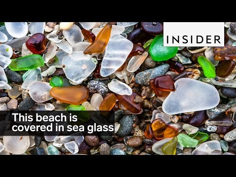 This beach is covered in sea glass instead of sand