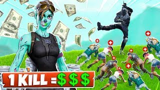DONATING to STREAMERS for *EVERY KILL* in Fortnite Battle Royale