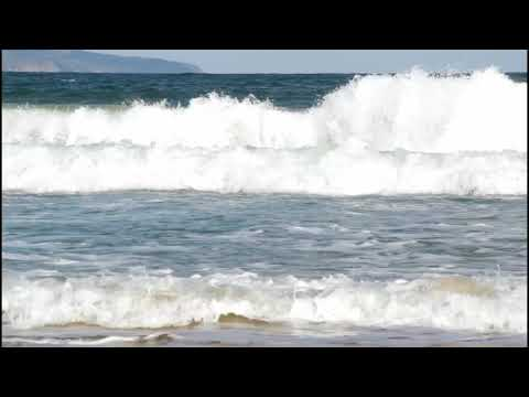 #МОРЕ - Волны на море. Шум моря. Футаж для видеомонтажа. HD 1800p. 2018.