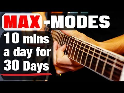 """The """"30 Day"""" Guitar Modes Workout (NO REST!)"""