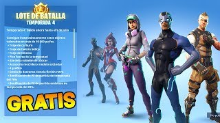 BATTLE PASS *SEASON 4* FREE!! FORTNITE BATTLE ROYALE (SORTEO)