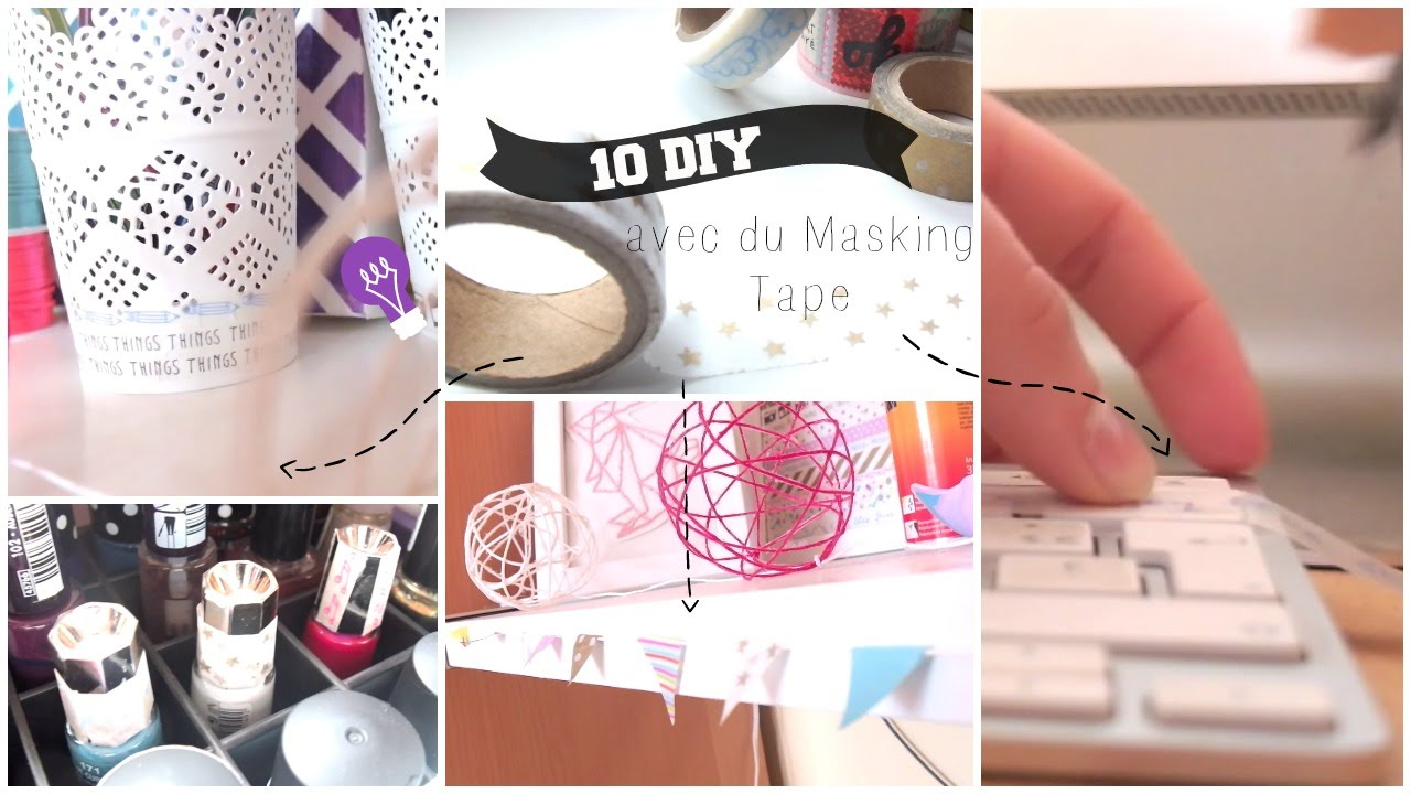 que faire avec du washi tape 10 diy 10 ways to use washi tape youtube. Black Bedroom Furniture Sets. Home Design Ideas
