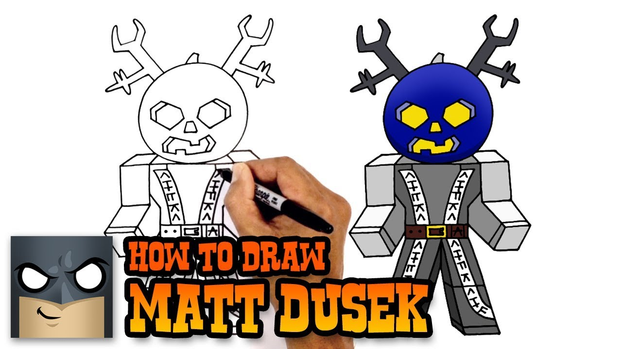 Cool Anime Drawing Roblox Character How To Draw Matt Dusek Roblox Youtube