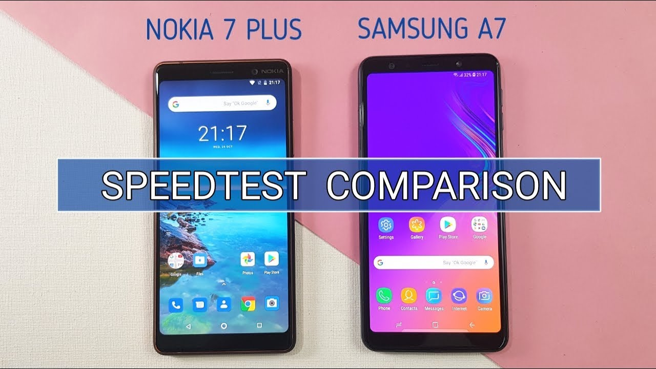 samsung a7 2018 vs nokia 7 plus speed test camera test. Black Bedroom Furniture Sets. Home Design Ideas