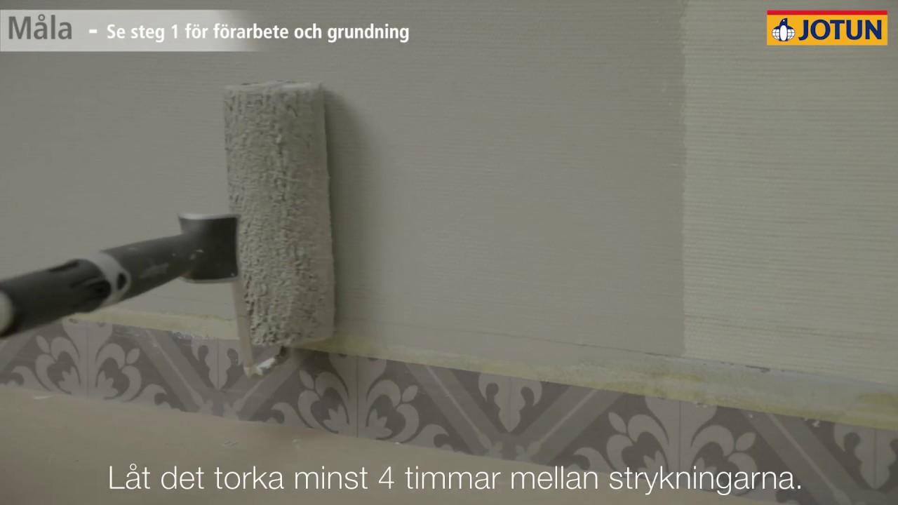 Måla våtrum steg 2 - för professionella målare - YouTube