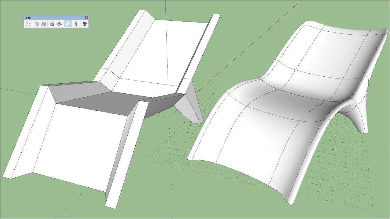 chair design sketchup swing india pool modeling in youtube
