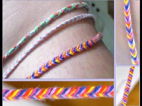 DIY: Fishtail Braided Bracelet/Anklet - YouTube