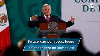 """El presidente Andrés Manuel López Obrador señaló que el político corrupto tradicional, lo primero que hace es darle la espalda al pueblo al llegar al poder, """"nosotros no somos así"""""""