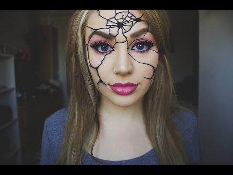 Easy Cracked Broken Doll Makeup   Halloween - YouTube