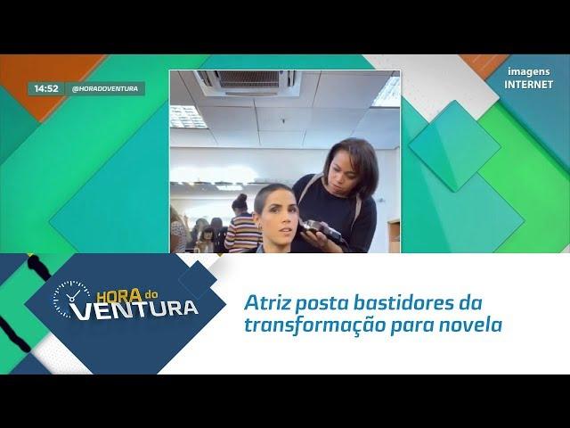 Atriz Pérola Farias posta bastidores da transformação para novela da Record TV - Bloco 02