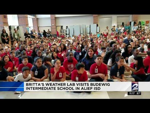 Britta visits Budewig Intermediate School