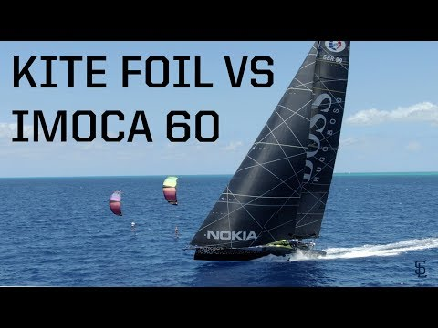 The Race! Kite foil vs Alex Thomson's Racing VLOG #22