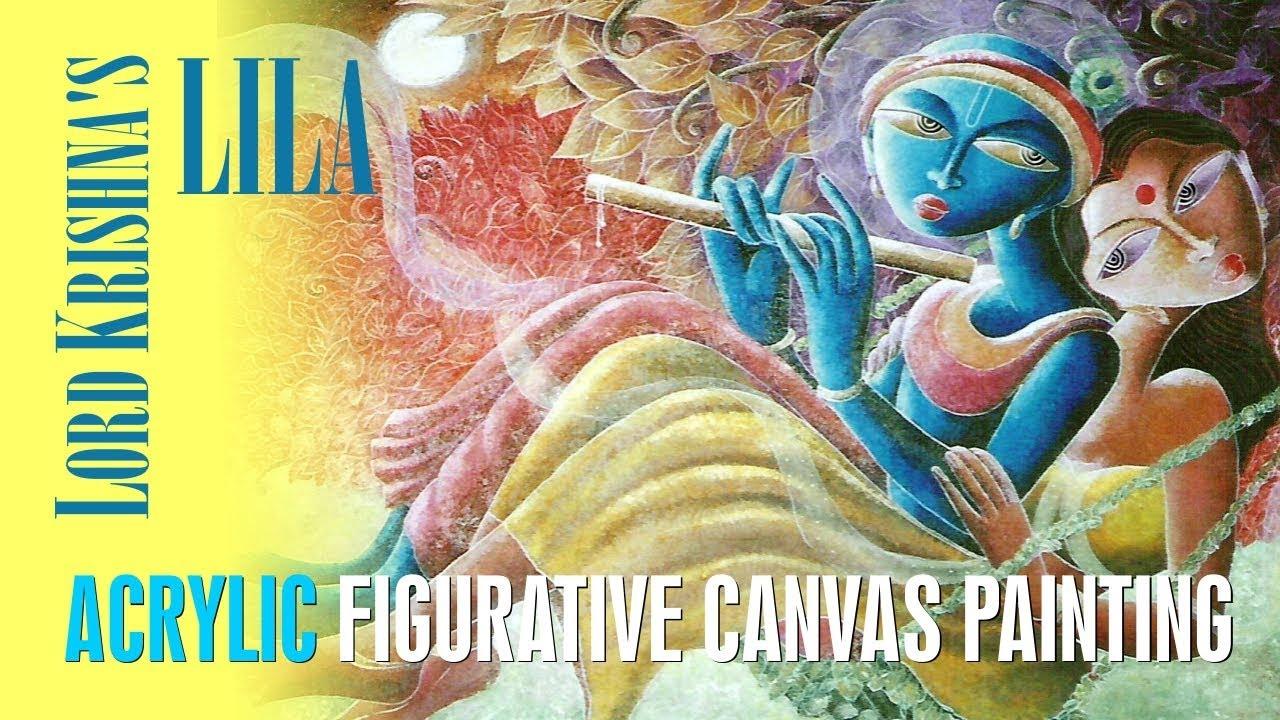 khishna 16 lord krishna 39 s canvas paintings youtube