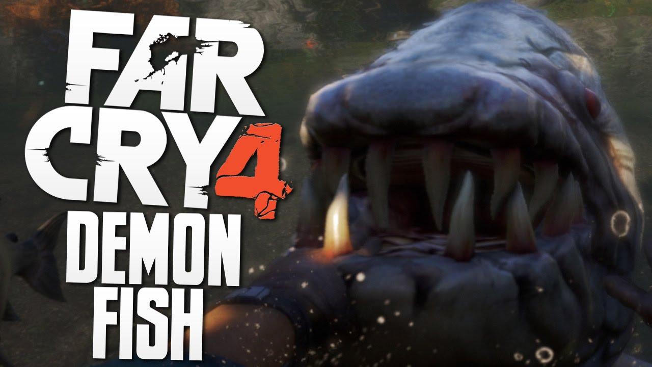 Giant Demon Fish Far Cry 4 Funny Moments Youtube