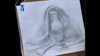 Repeat youtube video Уроки рисования (№ 6) карандашом. Рисуем драпировку