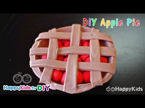 DIY Apple Pie!! | PlayDough Crafts | Kid's Crafts And Activities | Happykids DIY