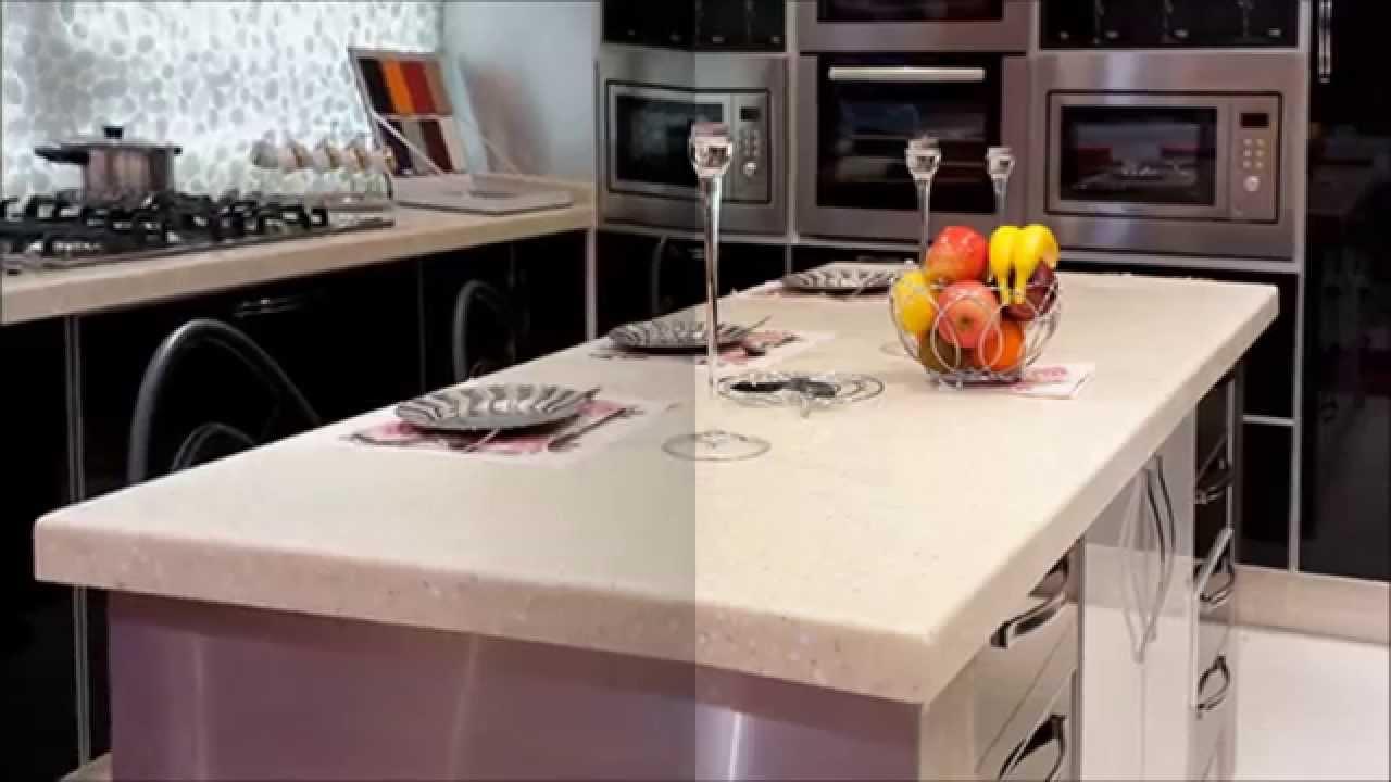 Al Badaha Kitchen Design تصاميم مطابخ رخام صناعي Youtube