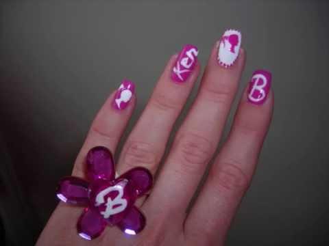 Barbie nail art tutorial youtube barbie nail art tutorial prinsesfo Images