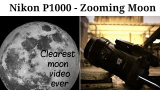 Nikon P1000 moon zoom | clearest moon video ever | 125x optical zoom | RVG photography