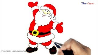 Drawing Letter Santa Claus