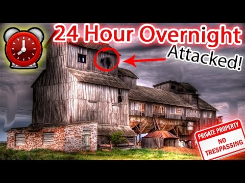 (GONE WRONG) 24 HOUR OVERNIGHT CHALLENGE ATTACKED IN A HAUNTED FARM!! SNEAKING INTO ABANDONED HOUSE!