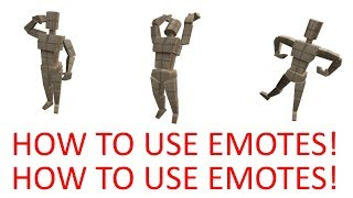 How to use emotes in roblox!