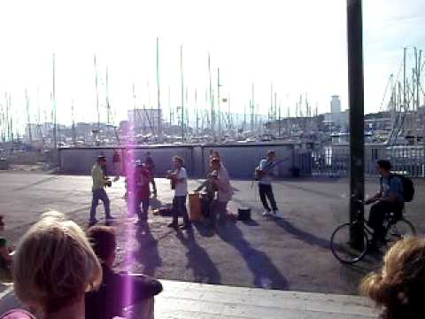 South American FuNk Band playing in Barcelona Port - Spain