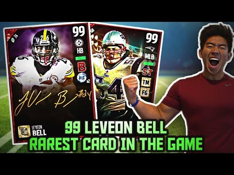 WE GET 99 OVR LEVEON BELL! RAREST CARD IN THE GAME! MADDEN 17 ULTIMATE TEAM
