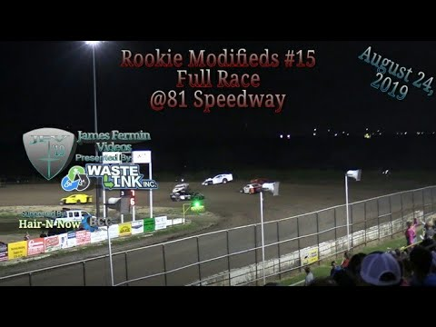 (Rookie) Modifieds #77, Full Race, 81 Speedway, 08/24/19