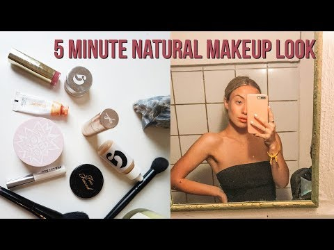 5 MINUTE NATURAL MAKEUP LOOK TUTORIAL