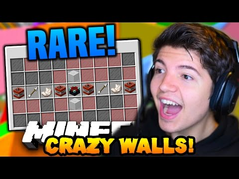 "Minecraft CRAZY WALLS #4 ""SUPER RARE ITEMS!!"" w/ PrestonPlayz & Vikkstar123"