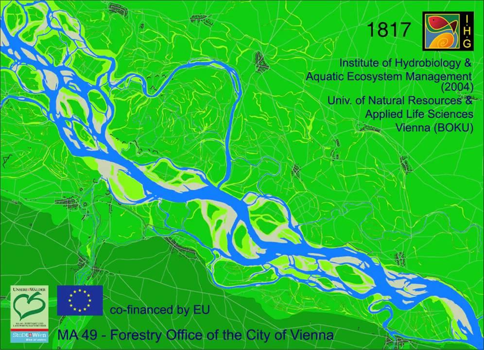 Danube River Landscape Viennalobau 1726 2001 Donau Auen Wienlobau