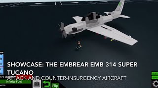 Roblox showcase: Embraer EMB 314 Super Tucano