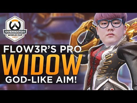 Overwatch: Fl0w3r's FLAWLESS Pro Widowmaker! - GOD LIKE AIM!