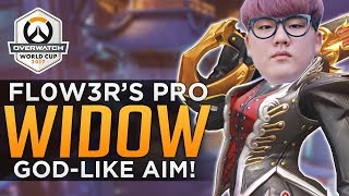 Overwatch: Fl0w3r's FLAWLESS Pro Widowmaker! - GOD LIKE AIM!