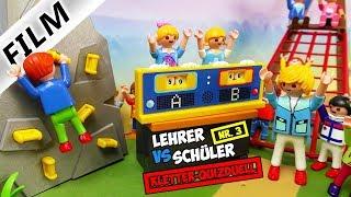 Playmobil Film Deutsch LEHRER VS. SCHÜLER: DAS KLETTER-QUIZDUELL! WER GEWINNT DIESMAL? Familie Vogel